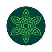 Photo celtic knot on dark green