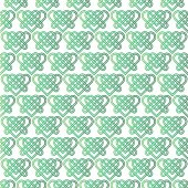 Photo green celtic knot heart pattern