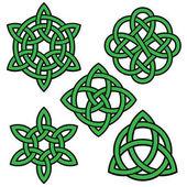 Photo green black celtic knots set