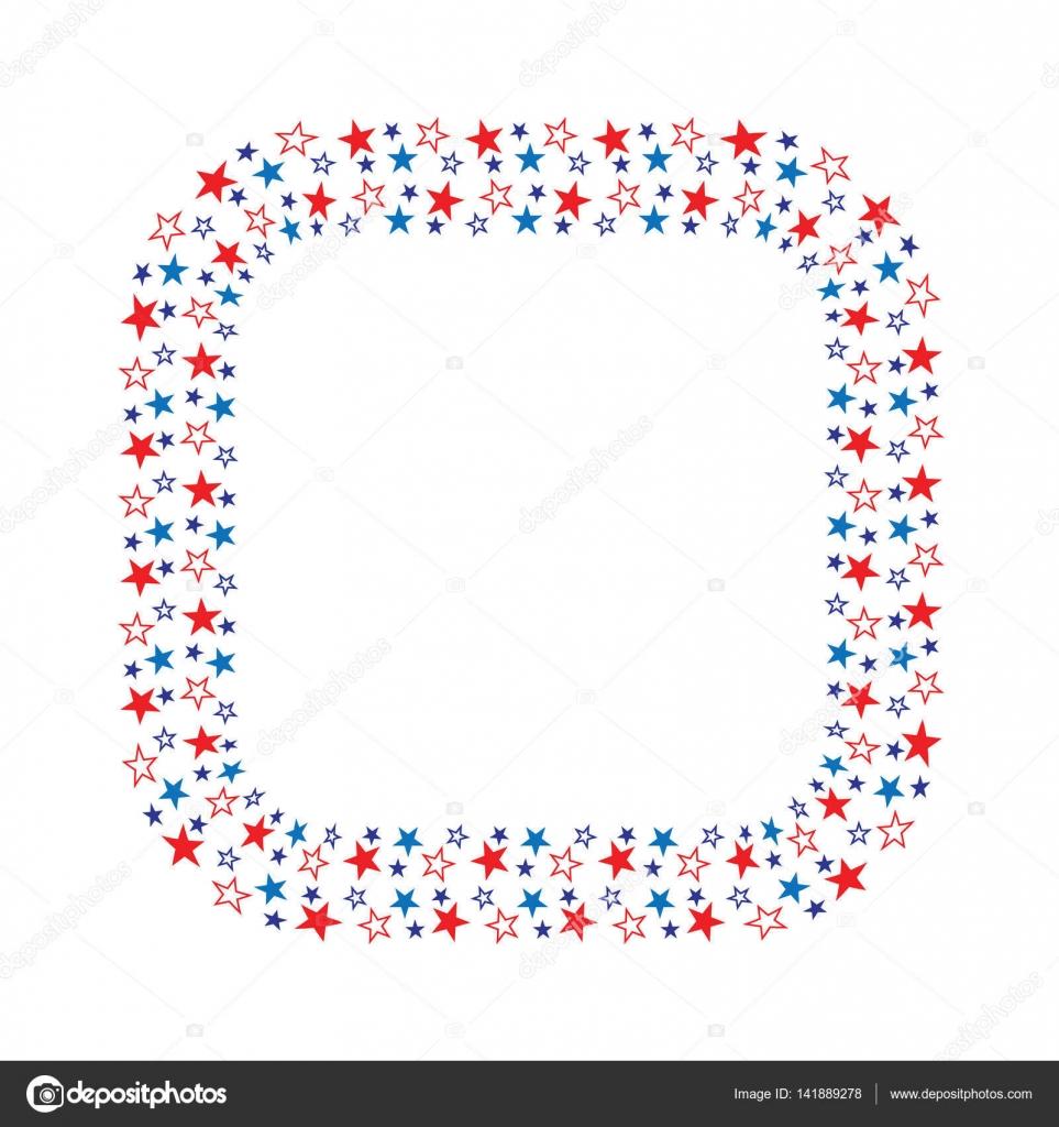 Sternen quadratischen Rahmen — Stockvektor © scrapster #141889278