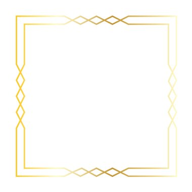 gold art deco square frame