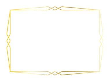 gold art deco square frame