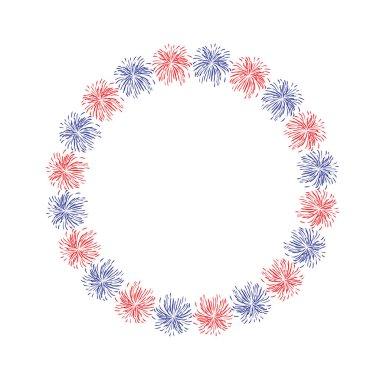 fireworks circle frame