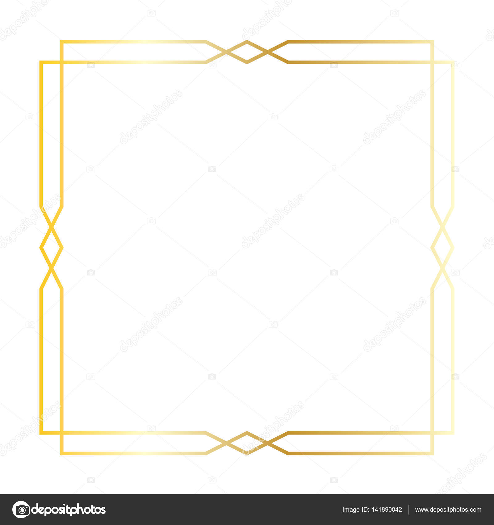 the gallery for gt square gold frame border