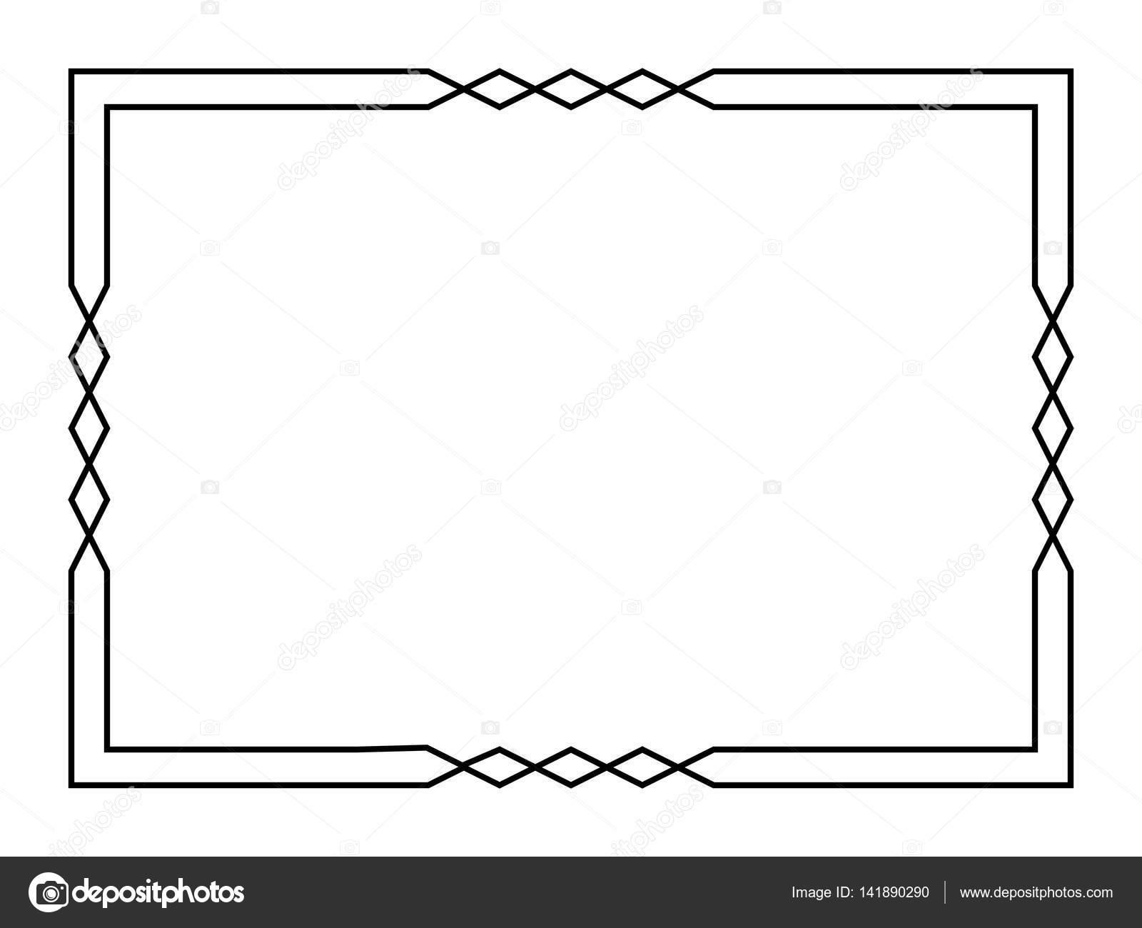 diamante negro marco de deco — Archivo Imágenes Vectoriales ...