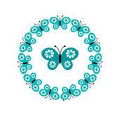 nahtlose Muster der Schmetterlinge