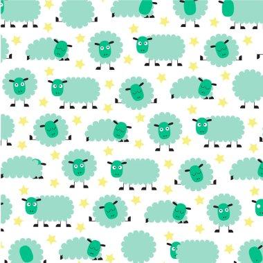 cute sleepy sheep pattern