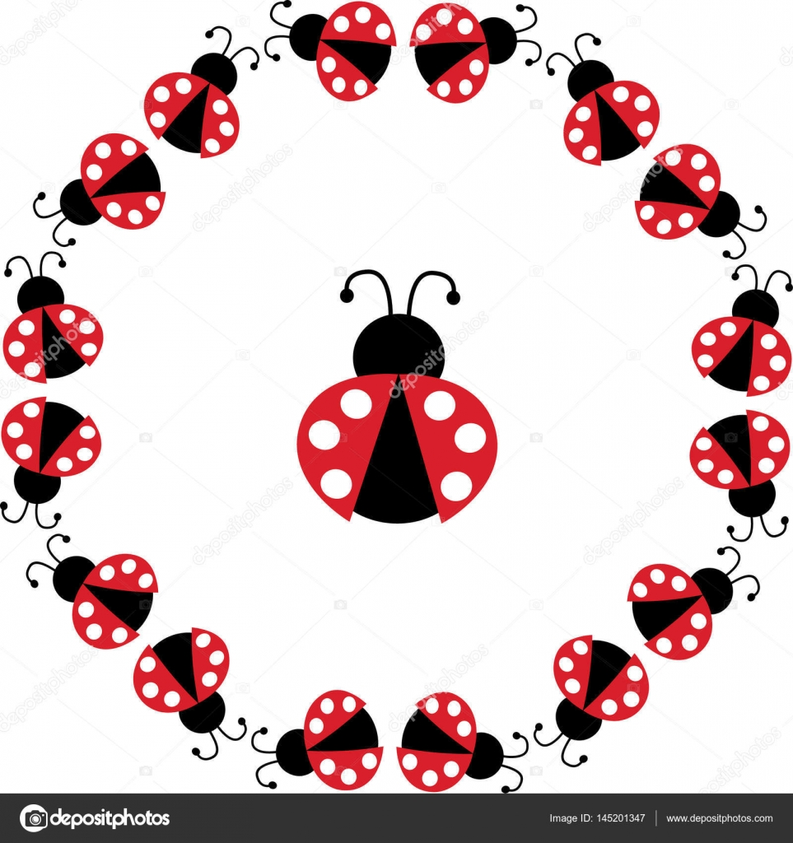 ladybug circle frame — Stock Vector © scrapster #145201347