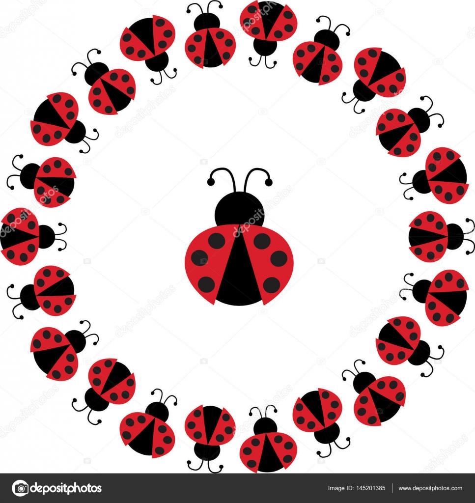 ladybug circle frame — Stock Vector © scrapster #145201385