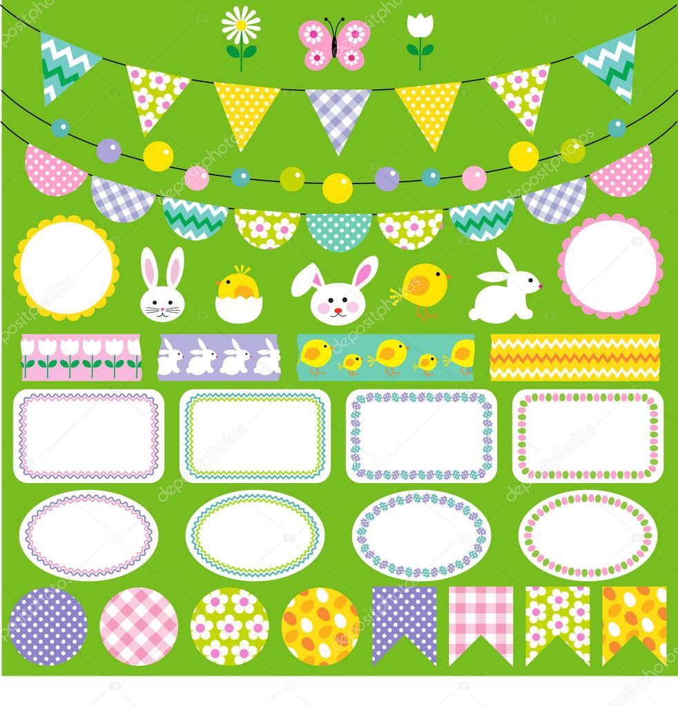 Painted Easter labels