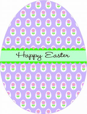 Easter egg with floral pattern
