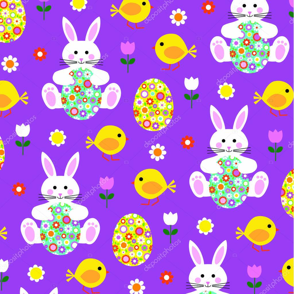 Easter egg with cute pattern