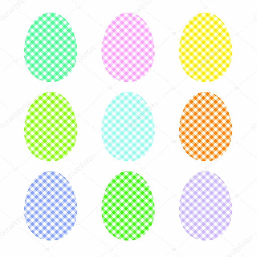 Checkered Easter eggs
