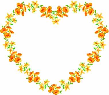 Minimalist floral heart frame