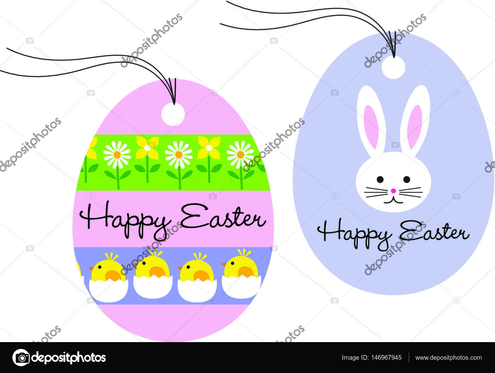 Gift tags with easter bunny and chicks stock vector scrapster gift tags with easter bunny and chicks stock vector negle Image collections