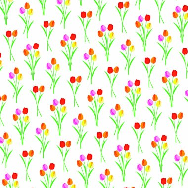 Retro tulips pattern