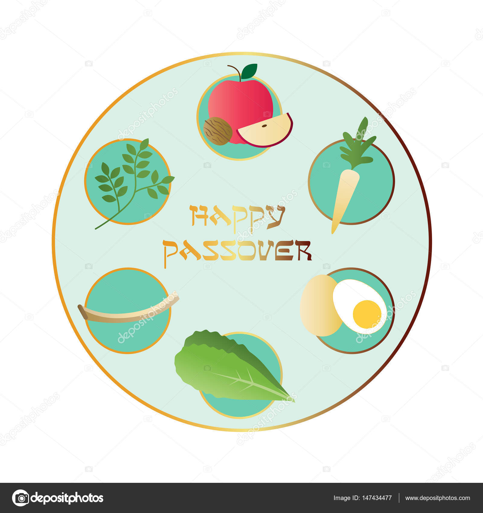 Happy passover seder plate stock vector scrapster 147434477 happy passover seder plate stock vector buycottarizona