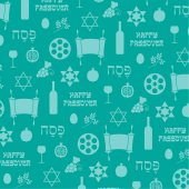 Fotografie seamless pattern with passover elements