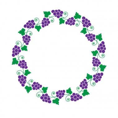 purple grapevine circle frame