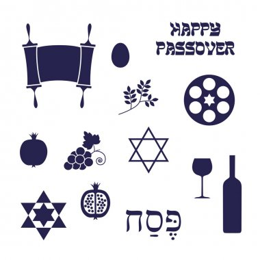 blue Passover icons