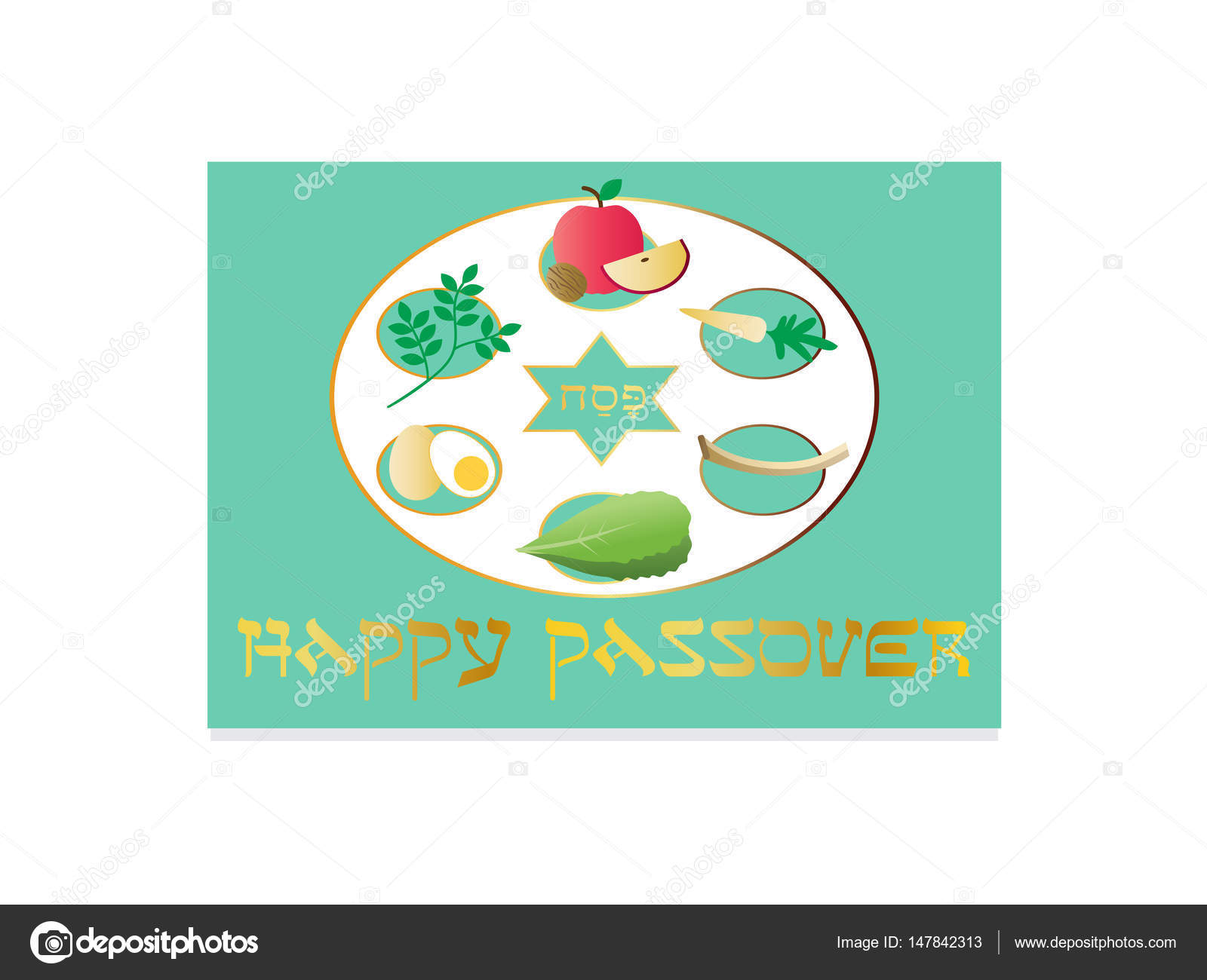 Happy passover seder plate stock vector scrapster 147842313 happy passover seder plate stock vector buycottarizona