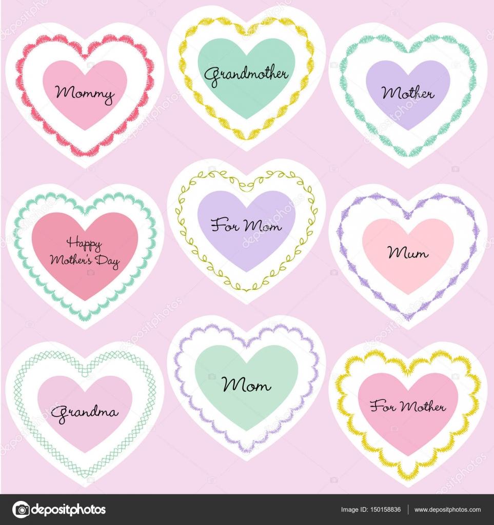 Marcos de centro de día de las madres — Archivo Imágenes Vectoriales ...