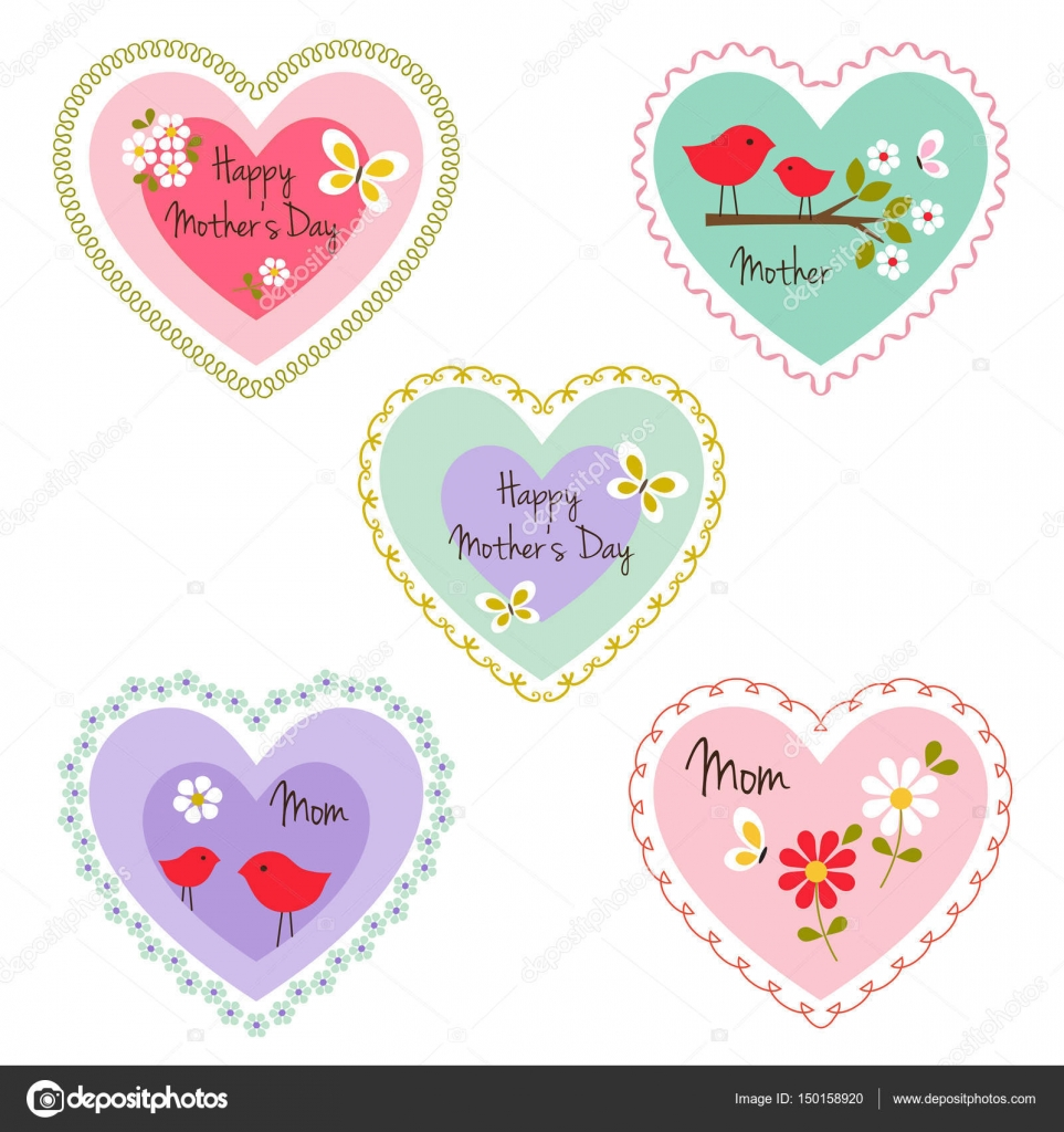 Mothers day heart frames — Stock Vector © scrapster #150158920