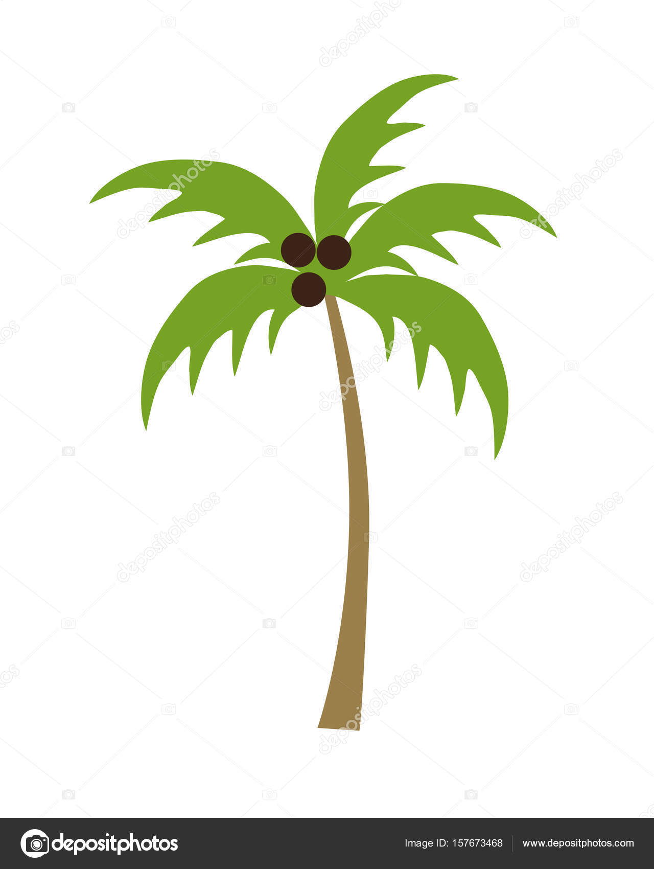 Cartoon palmboom stockvector scrapster 157673468 - Dessin de palmier ...