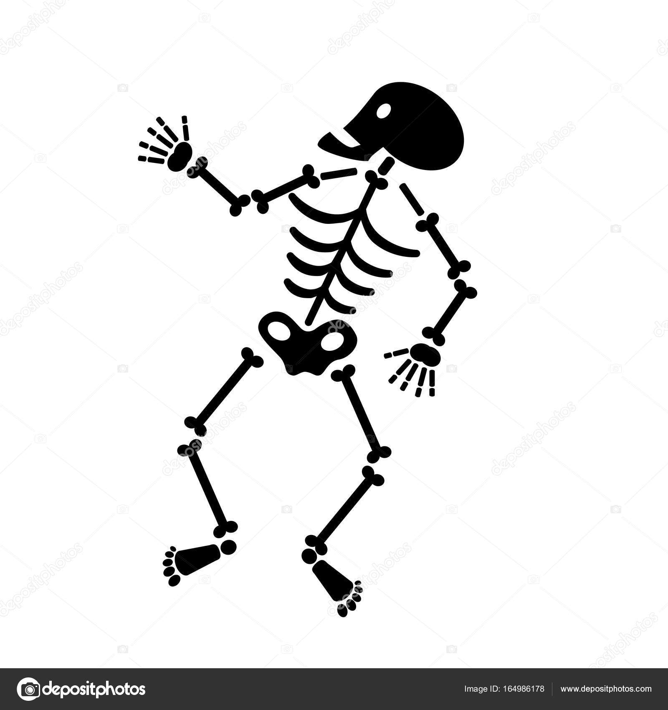Skelet Voor Halloween.Halloween Skelet Pictogram Stockvector C Scrapster 164986178