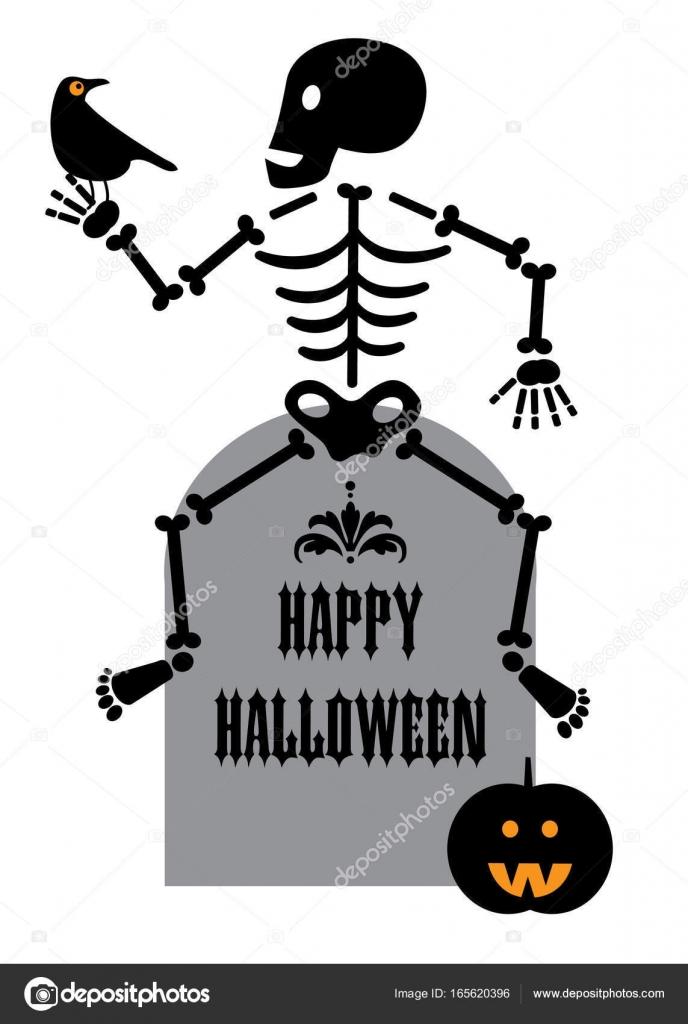 icne de squelette halloween image vectorielle - Squelette Halloween