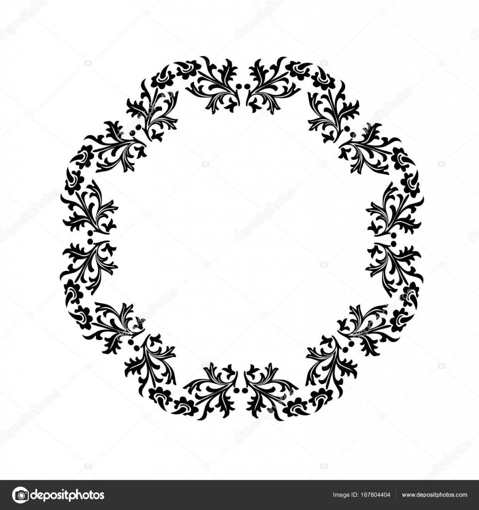 marco adornado negro — Vector de stock © scrapster #167804404
