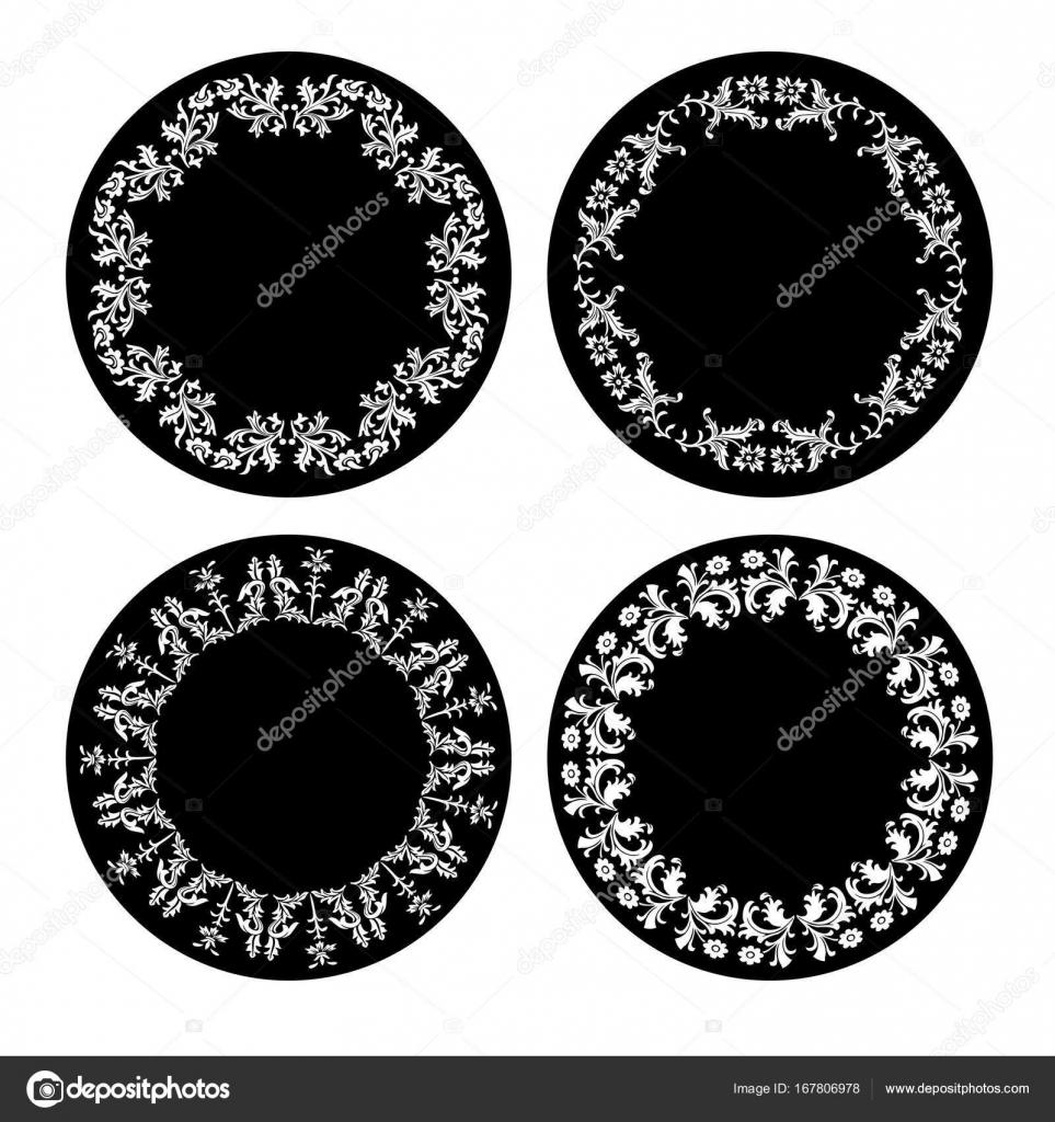 schwarz weiß verzierten Rahmen — Stockvektor © scrapster #167806978