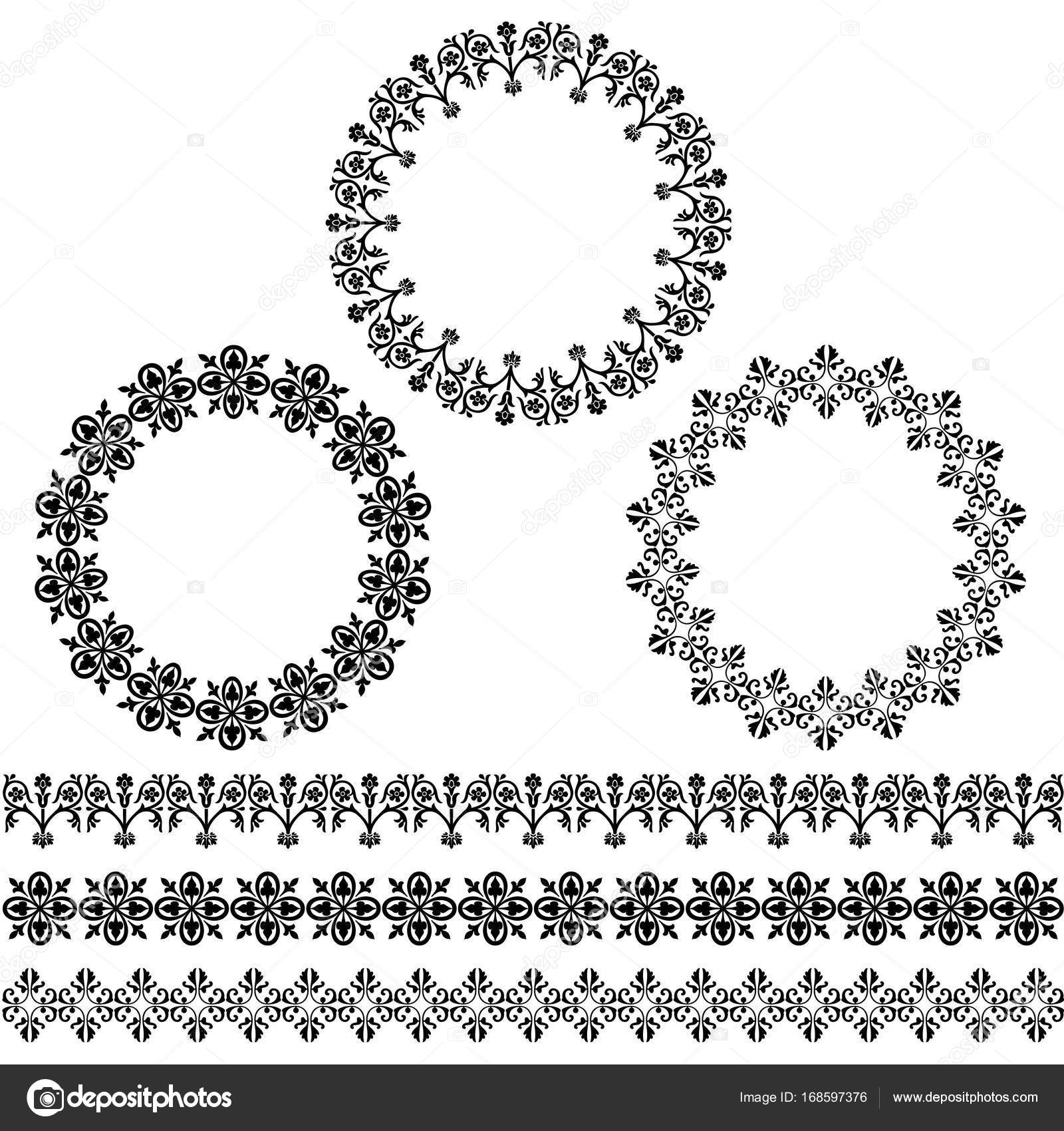 black circle frames and border patterns — Stock Vector © scrapster ...