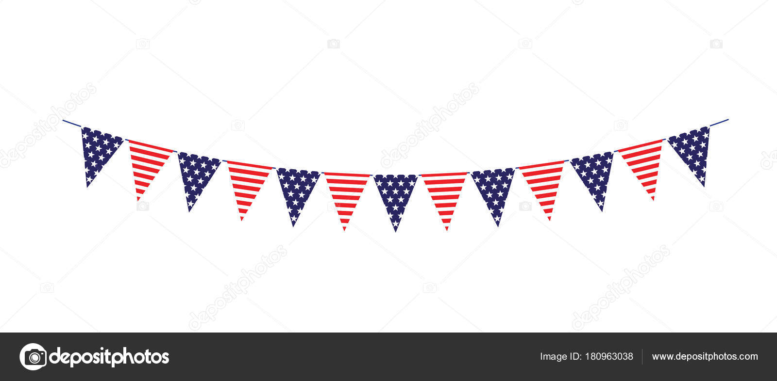 Red White Blue Stars Stripes Bunting Flags Vector ... - photo#25
