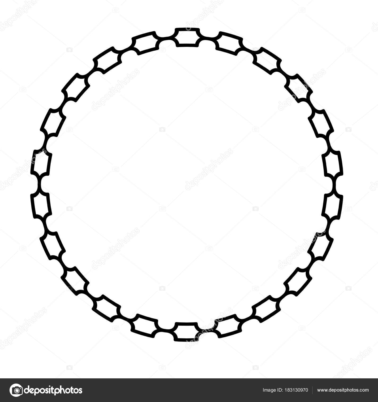 Black Mod Simple Chain Frame — Stock Vector © scrapster