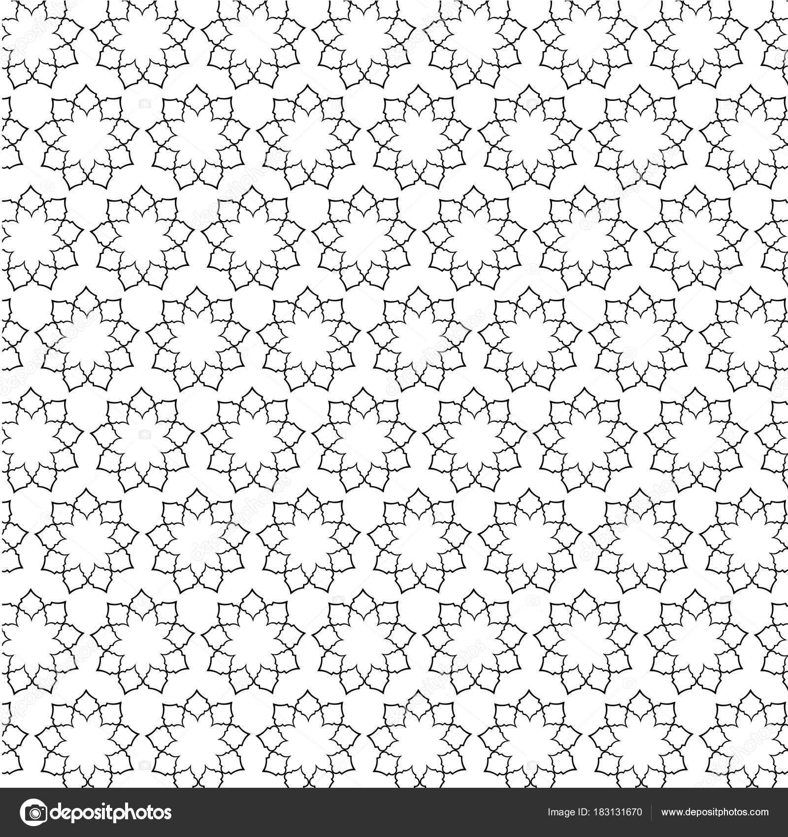 Motif marocain noir sur fond blanc image vectorielle scrapster 183131670 - Motif oriental a imprimer ...