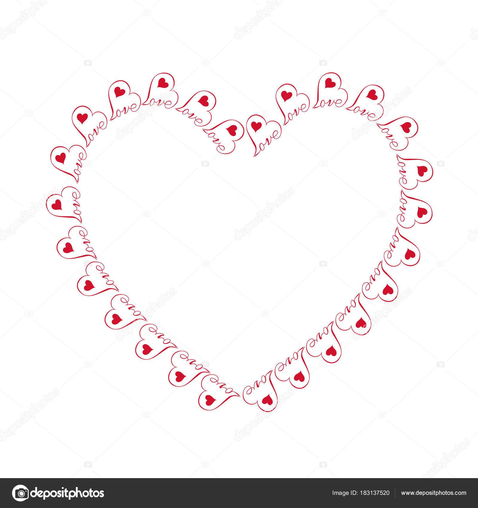 Kleine Rote Herzen Mit Liebe Rahmen — Stockvektor © scrapster #183137520