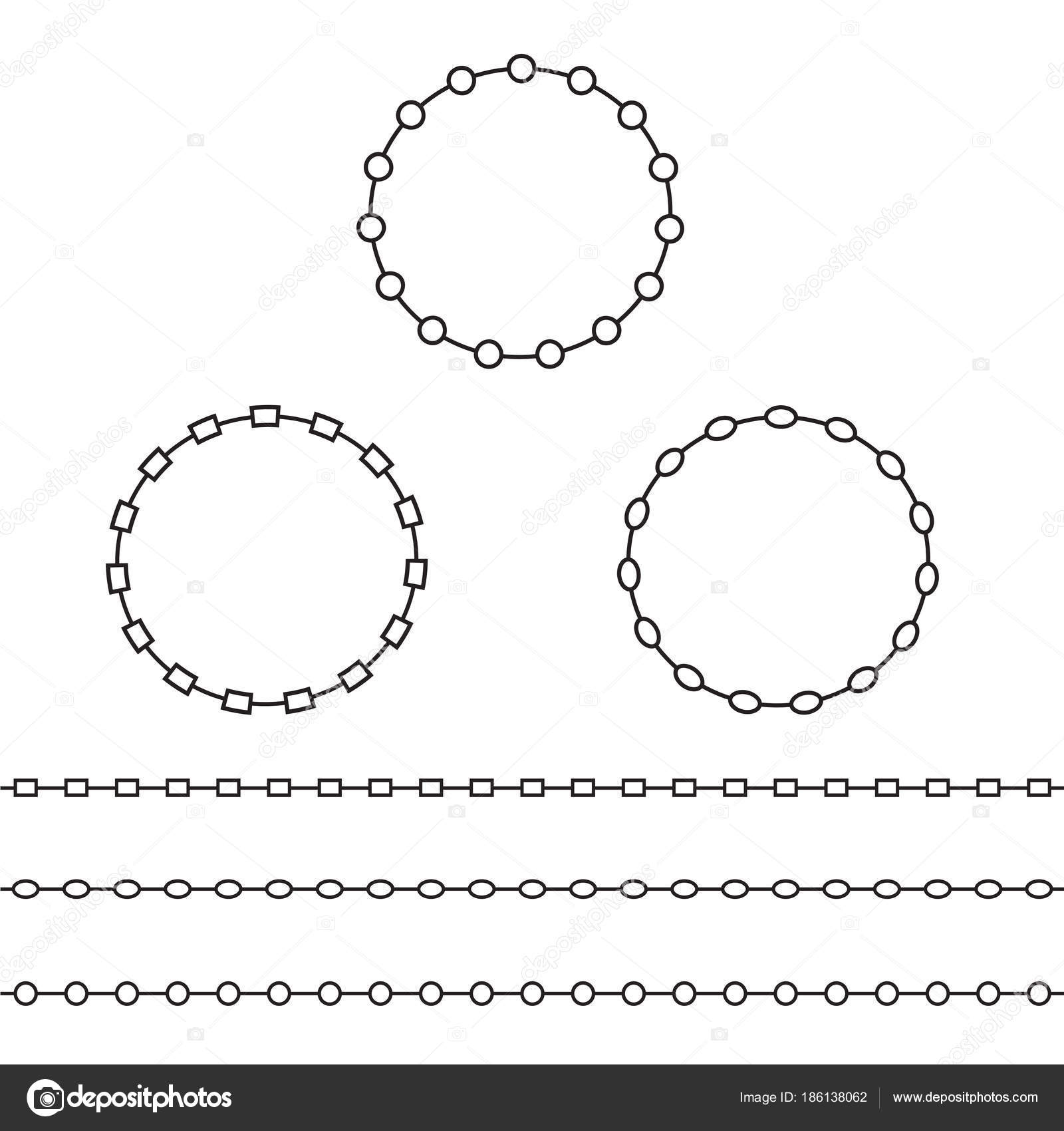 Schwarze Kette Rahmen Und Grenzen Setzen — Stockvektor © scrapster ...