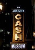 Johnny Cash Museum beleuchtet Schild, Nashville