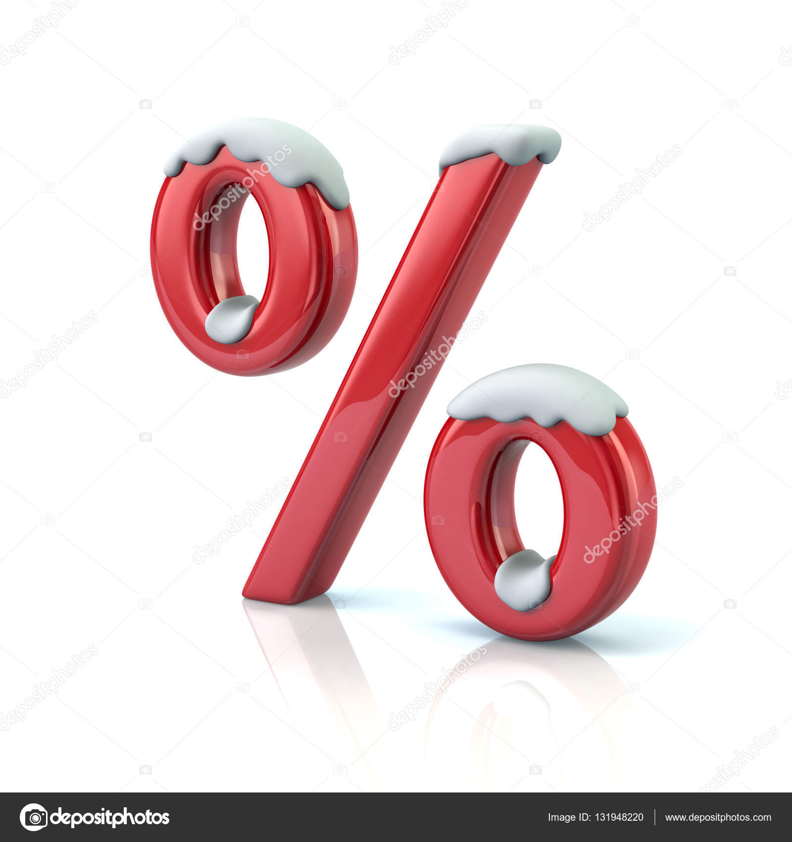 Red percent symbol with snow stock photo valdum 131948220 red percent symbol with snow stock photo buycottarizona Images