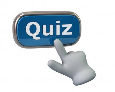 Hand pressing quiz button