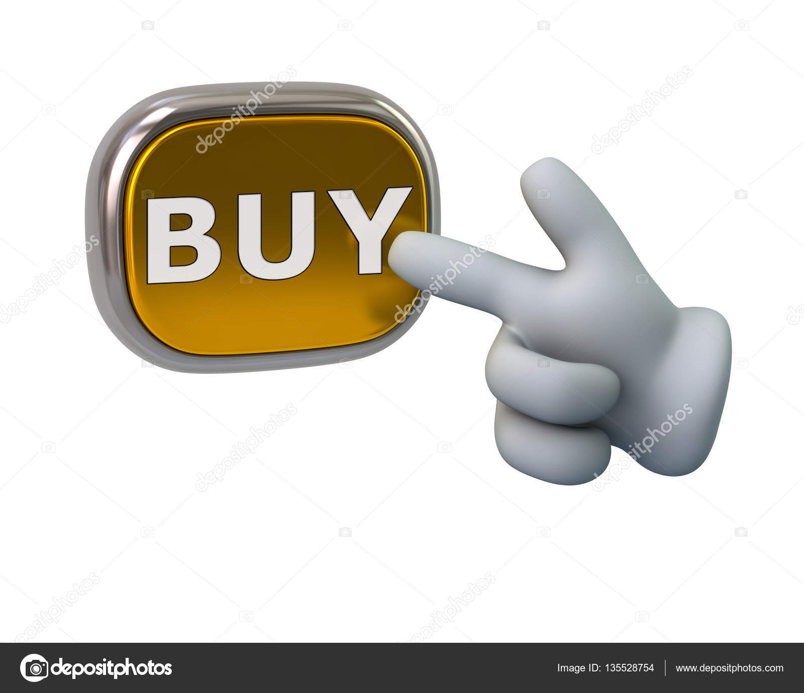 21a1beddebdd Рука, нажав золотой купить кнопку, изолированные на белом фоне. Золотой  кнопка — фото автора valdum — Фото автора valdum