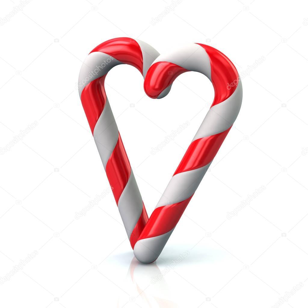bastones de caramelo en forma de corazón — Fotos de Stock © valdum ...