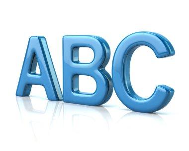 Blue ABC letters
