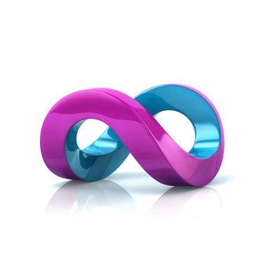 Blue and purple infinity symbol