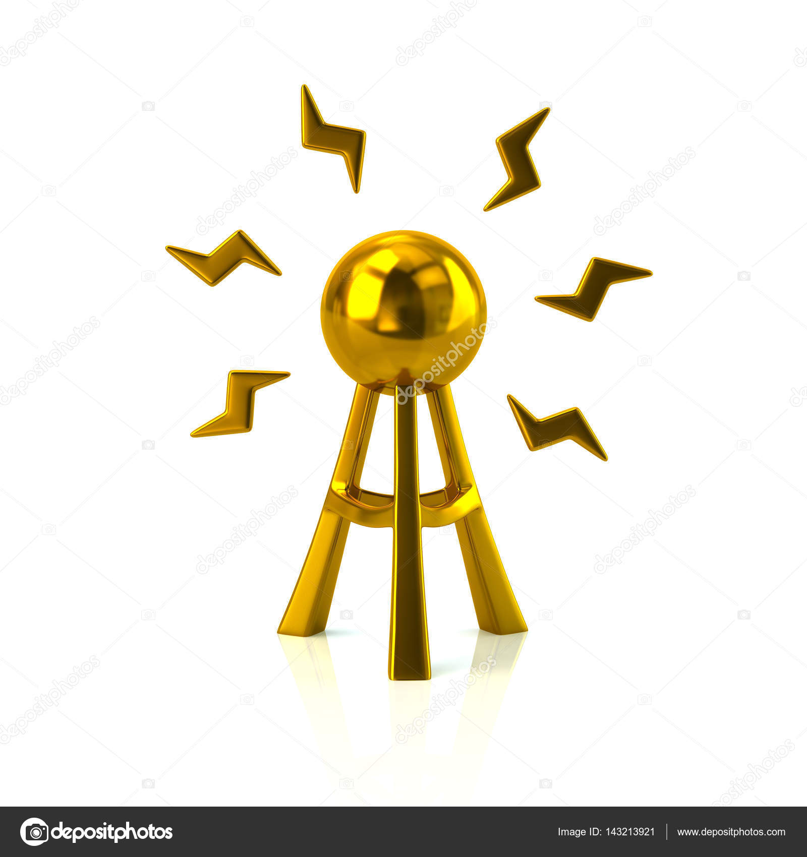 Goldene Antenne Turm Symbol — Stockfoto © valdum #143213921