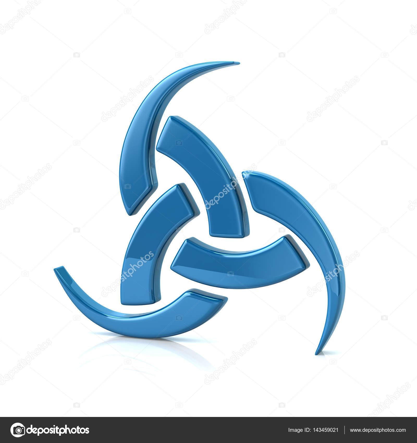 Blue triple horn of odin 3d illustraion stock photo valdum blue triple horn of odin 3d illustraion isolated on white background photo by valdum buycottarizona