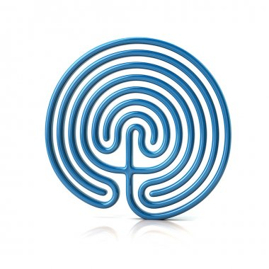 Blue Greek labyrinth