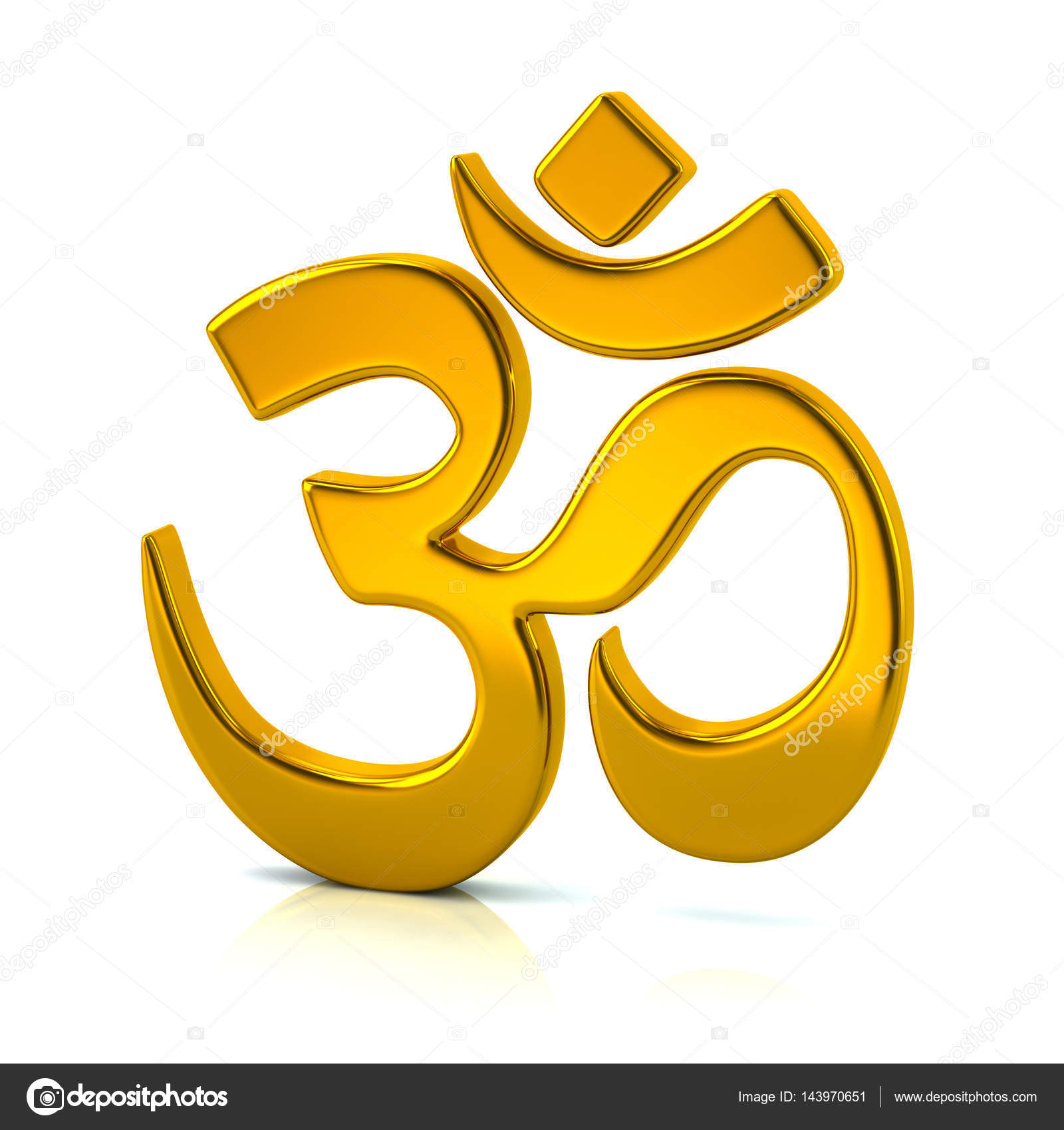 Golden Aum Or Om Symbol Of Hinduism Stock Photo Valdum 143970651