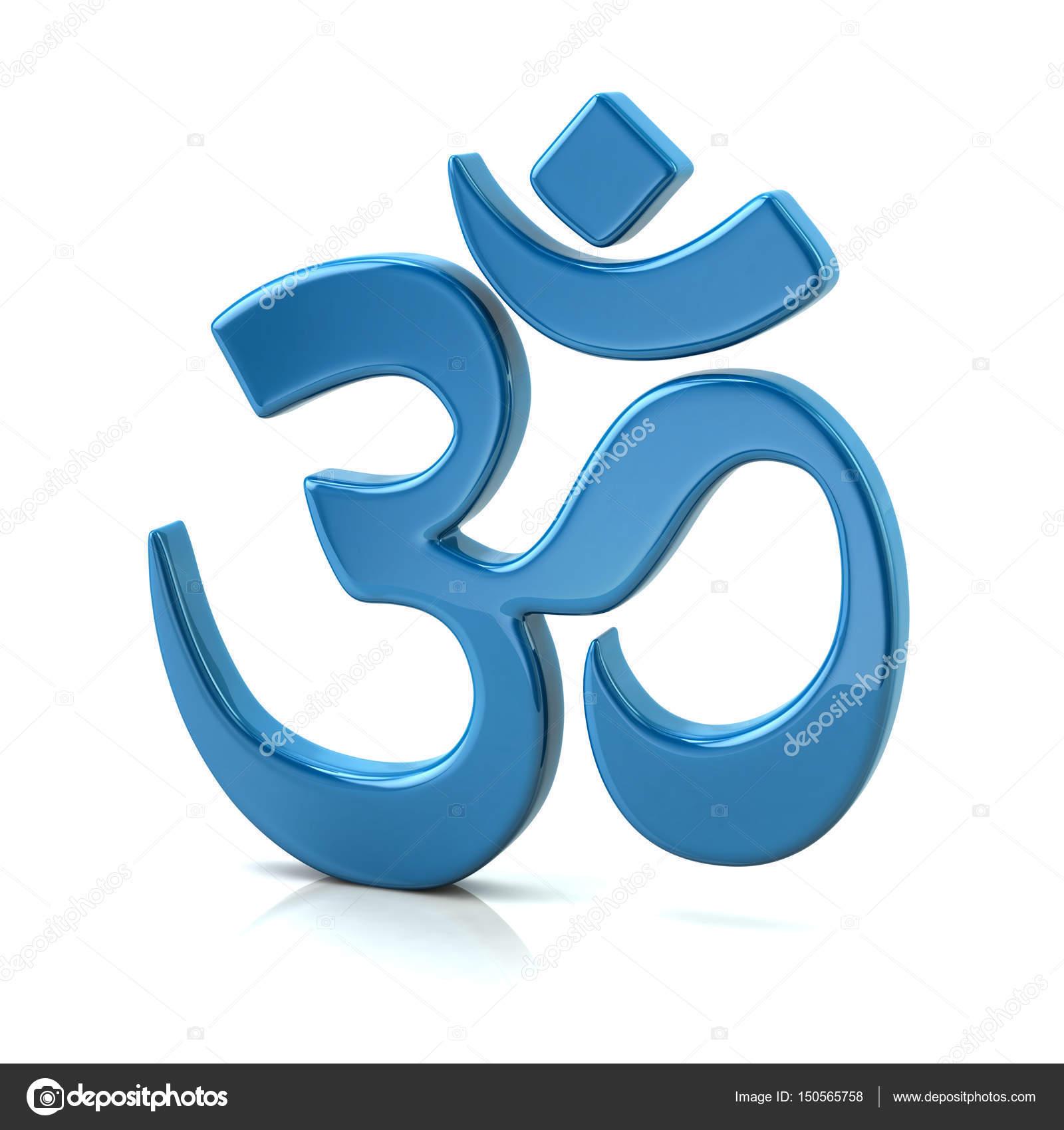Blue Aum Symbol Of Hinduism Stock Photo Valdum 150565758